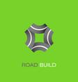 road build logo vector image