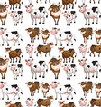 Seamless cow vector image