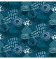 Seamless pattern with hand drawn abstract ink vector image