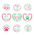 set of ecology icons or stamps for packaging vector image