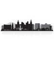 Las Vegas USA city skyline silhouette vector image