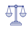 blue silhouette of justice scales vector image