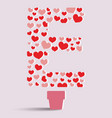 Heart tree and letter E vector image vector image