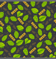 seamless pattern on a beer drink theme vector image