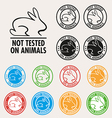 No animals testing sign icon vector image