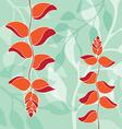 bird of paradise pattern orange color vector image