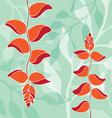 bird of paradise pattern orange color vector image