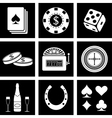 casino icons vector image
