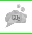 co2 grey cloud vector image
