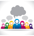 colorful group of people stock vector image