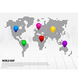 Map pointers and world map vector image