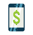 mobile banking flat icon business and finance vector image