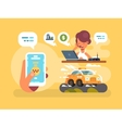 Taxi order online vector image