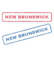 new brunswick textile stamps vector image