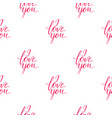 seamless wallpaper romantic valenine s day i love vector image