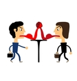 two people fighting with their tongues vector image vector image