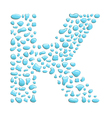 water letter k vector image