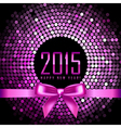 Happy New Year 2015 background with disco lights vector image