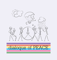 Peace dialogue cartoon vector image