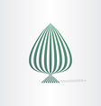 abstract green tree with lines vector image