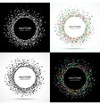 Set of Abstract Halftone Circle Frames vector image