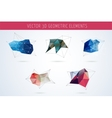 Set of Polygonal Geometric abstract elements vector image vector image