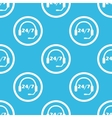 Support sign blue pattern vector image