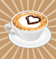 realistic cappuccino cup vector image vector image