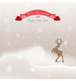 background winter Christmas landscape with vector image