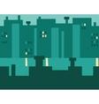 Seamless Cartoon Night City Landscape vector image