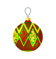 Christmas ball on white background vector image vector image