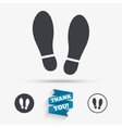 Imprint shoes sign icon Shoe print symbol vector image