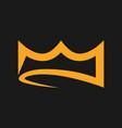 abstract crown symbol icon vector image