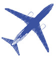 airplane top view airplane vector image