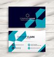 elegant business card design vector image