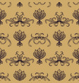 engraving vintage seamless pattern vector image