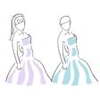 fashion girl vector image