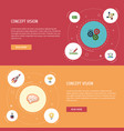 Flat icons cash design administration and other vector image