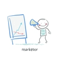 marketer tells the story of schedule vector image