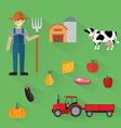 Organic Clean Foods Good Health Design Concept vector image
