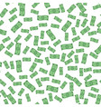 Seamless pattern of flying paper money vector image