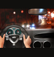 car driving realistic design concept vector image