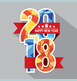 2018 label badge vector image