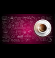 infograph background template with a fresh coffee vector image vector image