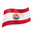 Flag of French Polynesia vector image vector image
