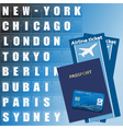 air ticket set vector image