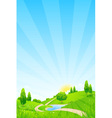 Green Landscape with Hills vector image vector image