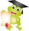 frog graduation vector image vector image