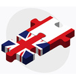 United Kingdom and French Polynesia Flags vector image