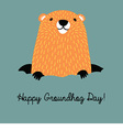 Happy Groundhog Day vector image vector image